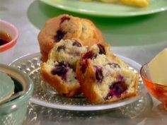 Double Blueberry Muffins from FoodNetwork.com ~ I'm on the hunt for a berry muffin mix that is easy & sounds delish!