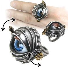 Alchemy Gothic Automatons Eye Ring - R178