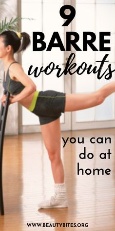 At home barre workouts - these barre workout videos will help you get lean and strong! You can do most of the exercises even if you're a beginner. Make barre part of your workout routine and tone your thighs, arms, back and abs! workout routine at home Barre Exercises At Home, Barre Workout Video, Toning Workouts, Workout Videos, At Home Workouts, Workout Routines, Workout Men, Workout Plans, Home Barre Workout