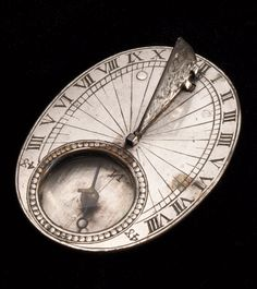 Portable horizontal dial for latitude 48° North. France, late 17th century.