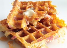 This waffle recipe is a ham and cheese sandwich disguised as the greatest brunch dish of all time.