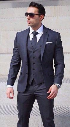 Marriage Suit For Man, Marriage Suits, Trendy Mens Fashion, African Men Fashion, Mens Fashion Suits, Mens Suit Vest, Mens Suits, Green Wedding Suit, Best Dress Shirts