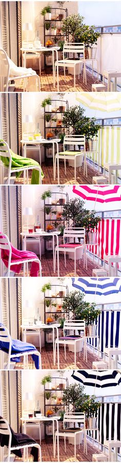 fresh and crisp strip pattern for balcony