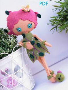 PDF Flower Queen Doll. Spanish by KokolitoDesign on Etsy