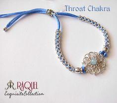 Daisy Throat Chakra sterling silver bracelet  by Raquelchelouche, $72.00