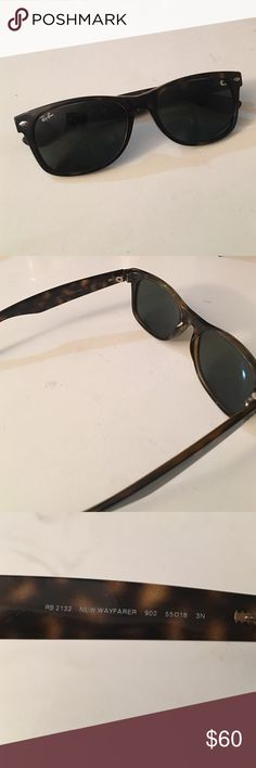 Rayban Tortoise New Wayfarer Old Pair of Rayban Tortoise New Wayfarer but always in style!! RB2132 No case! Ray-Ban Accessories Sunglasses