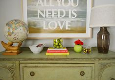 Home decor idea.. love the bright color combo. Young House Love