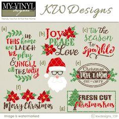 DIGITAL DOWNLOAD ... Christmas Vectors in AI, EPS, GSD, & SVG formats @ My Vinyl Designer #myvinyldesigner #kwdesigns