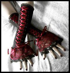 Gothic Black Corset Wedding Dresses   ... Red Ribbon & Lace - Gothic Lolita EGL Rococo Wedding Emo Goth Fusion