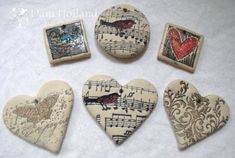 stamping on fimo clay (wonder if this works on the cold porcelain clay here on pinterest?)