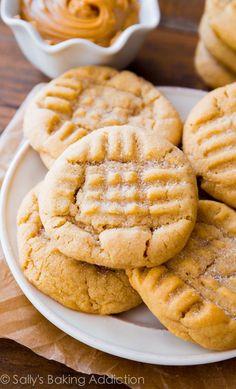 Classic Peanut Butter Cookies  - Delish.com #peanutbuttercookies