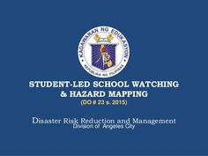 4 student led-school_watching_and_hazard_mapping Science Journals, Angeles, Management, Student, Led, School, Angels