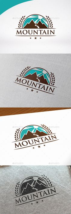 Mountain Badge Logo Template #design #logotype Download: http://graphicriver.net/item/mountain-badge-logo-template/13259547?ref=ksioks