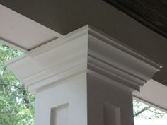 Idea for Front Porch Pillar - Is this similar to Habersham house?