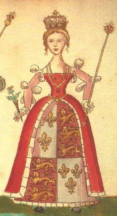 Joan Beaufort, Queen of Scotland as wife of James I. She was present when her husband was assassinated in 1437, and was also a target. She was injured but managed to escape, assuming the regency for her young son, James II. She was the great, great grandmother of Mary, Queen of Scots. Joan was the half niece of Henry IV of England and a granddaughter of John of Gaunt & Katherine Swynford, the last Duke & Duchess of Lancaster,  17X GGM