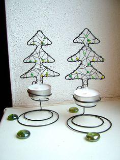 Svietidlá a sviečky - vianočný svietnik - 4695274_