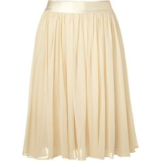SEE BY CHLOE Almond Swing Skirt ❤ liked on Polyvore