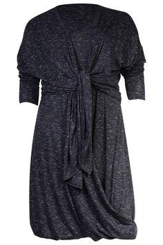 Grote maten damesmode Boris Industries jurk draped melee | Boris Industries
