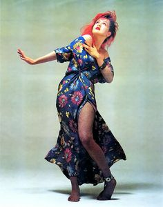 Cyndi Lauper. She's so unusual. An '80s icon.