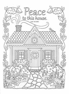 Peaceful Reflections Coloring Book For Adults Just Think This In Embroidery Work