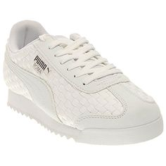 Puma Mens Roma Weave Wht Fashion Sneakers WhiteSteel Grey 13 DM US