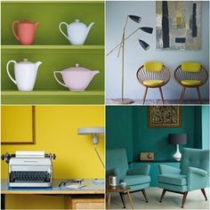 Love the pops of color! Though I doubt I could actually live in a yellow room :)