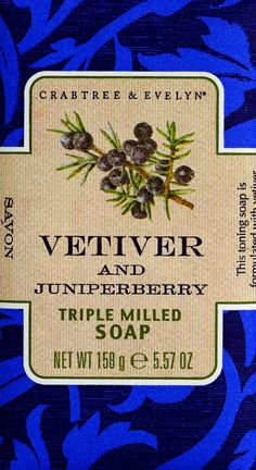 Crabtree & Evelyn Heritage Soaps: Vetiver and Juniperberry