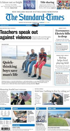 The Standard-Times. May 23, 2015.  Boys save man's life; teachers talk about violence in New Bedford's public schools; Eversource plans rate decrease and more.