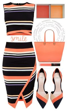"""Smile "" by chalsouv ❤ liked on Polyvore featuring Ted Baker, Rebecca Minkoff, Zara, NARS Cosmetics and coolcorals"