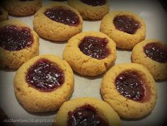 Cut the Wheat: Lunch Box Cookies (Peanut Butter & Jelly Thumbprints): grain free, sugar free, gluten free