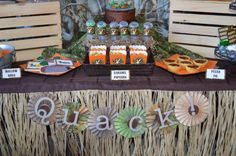 duck dynasty birthday party supplies | Duck Dynasty Themed birthday party via Kara's Party Ideas ...