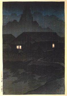 Tsuta Hot Springs  by Kawase Hasui, 1919  (published by Watanabe Shozaburo)