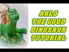 how to make ARLO THE GOOD DINOSAUR cake topper fondant il viaggio di Arlo pasta di zucchero torta - YouTube