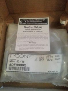 "Tygon ND100-65 Medical/Surgical Plastic Tubing, Clear, 1/16"" ID 50 feet Length #Tygon"