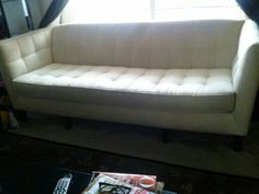 Egg white Couch/ 6 ft long