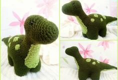 Dexter the Dinosaur - Free Amigurumi Crochet Pattern English Version here: http://themagicloop.com/index.php/2016/02/29/dexter-the-dinosaur-free-amigurumi-pattern/