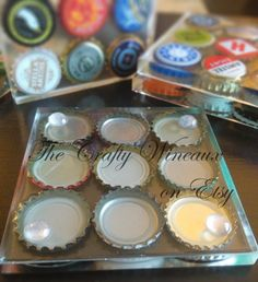 Set of TWO One of a Kind Beer Bottle Cap by TheCraftyWineaux