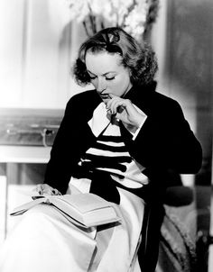 """Joan Crawford on the set of """"Forsaking All Others"""" [1934]"""