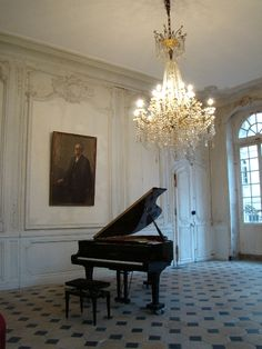 The piano room! but instead of the picture, the giant mirror and a wood floor