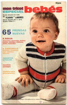 Revista MON TRICOT ESPECIAL BEBÉS - Tejidos y Labores -65 modelos- 74 páginas -- Año 1973