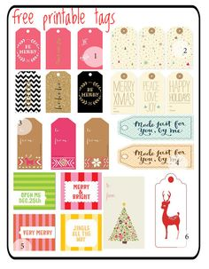 rouge & whimsy: christmas tag printables: a collection