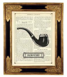 Sherlock Holmes II - Vintage Book Page Art Print  w The Curious Printery na DaWanda.com