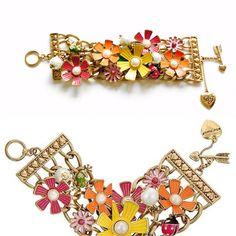 Betsey Johnson stylish multi strand bracelet