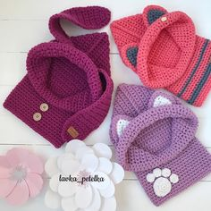 Textured Toddler Hood pattern by Ochre Pome Crochet Baby Clothes, Crochet Baby Hats, Love Crochet, Crochet For Kids, Knitted Hats, Knit Crochet, Knitting For Kids, Baby Knitting, Crochet Hooded Cowl