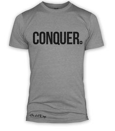 "Brand new styles! ""CONQUER"" Signatu... Check it out here! http://www.goallday.com/products/conquer-signature-series-tee-grey?utm_campaign=social_autopilot&utm_source=pin&utm_medium=pin"