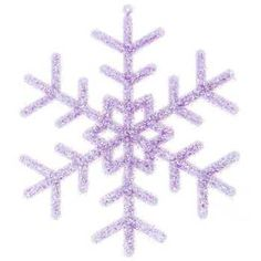 Lavender Frosted Glitter Snowflake Ornaments