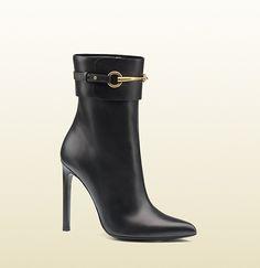 botín de piel con horsebit - Gucci
