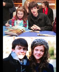 Georgie Henley Skandar Keynes - 2006 and 2013 ^they changed so much!
