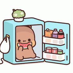 Cute Bunny Cartoon, Cute Love Cartoons, Panda Gif, Panda Bear, Picsart Tutorial, Cute Love Gif, Little Panda, Some Funny Jokes, Cute Doodles