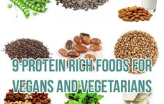 9 Protein Rich Foods for Vegans and Vegetarians Vegetarian Types, Ovo Vegetarian, Vegetarian Recipes, Protein Rich Foods, Vegan Foods, Vegan Life, Vegans, Dog Food Recipes